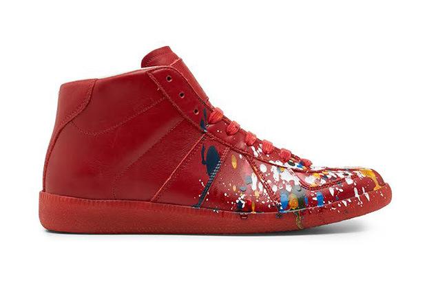 Maison Martin Margiela Red Pollock Mid-Top Replica Sneaker – Traver ... b7b6a89ba